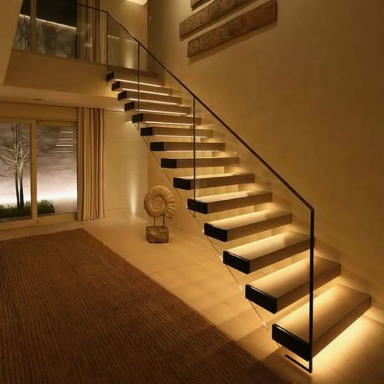 Diy Stainless Steel Wire Glass Railing Solid Wood Tread Floating   Diy Glass Stair Railing   Cable Railing   Modern Stair Parts   Floating Staircase   Railing Ideas   Wood
