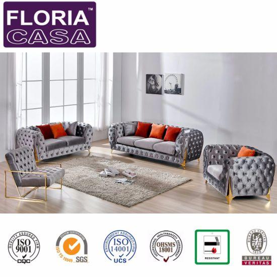 tufted button sofa outlet e colchoes porangaba china high class home furniture leisure set