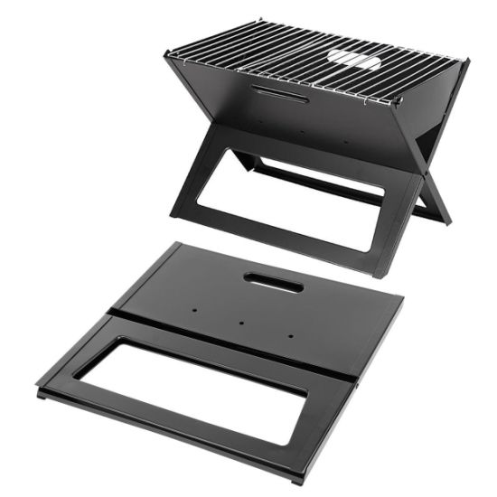 hot item portable charcoal grill folding small outdoor patio table top bbq barbecue steel grill