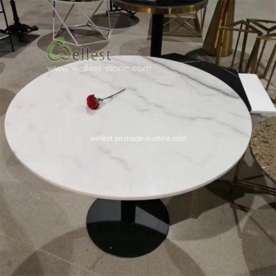 white marble round coffee table bar