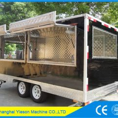 Kitchen Trailer Double Sink China 4 5m High Quality Mobile Food Truck With Dimond Plates