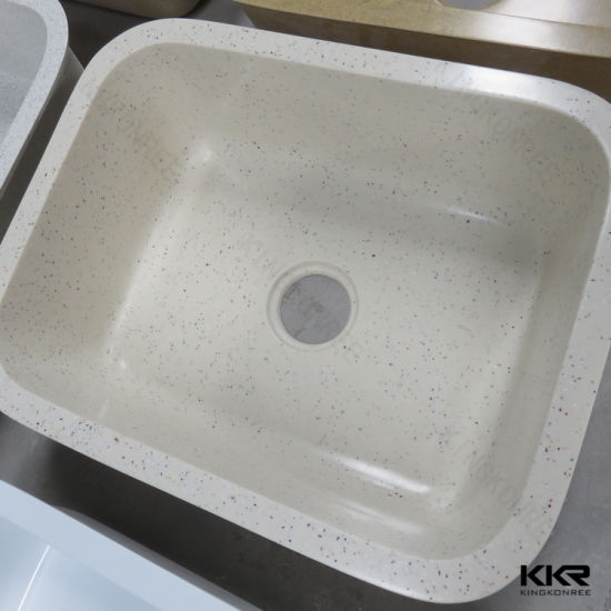 stone kitchen sink vintage faucet china best quality artificial white double bowl