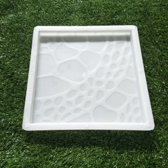 pvc concrete plastic patio block interlocking paver mold