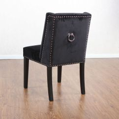 Ring Back Dining Chair What Is The Best Office China Nailhead Upholstered Velvet Chairs