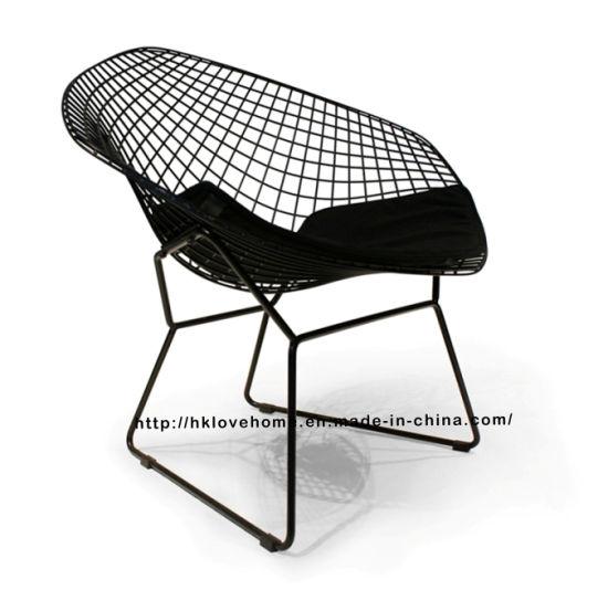 diamond chair replica folding papasan target china modern dining restaurant knock down metal wire