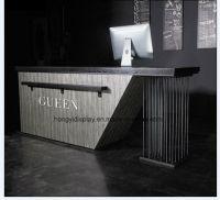 China High End MFC White Modern High End Reception Desk ...