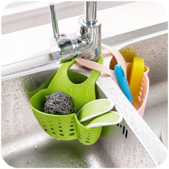 kitchen sink sponge holder draining