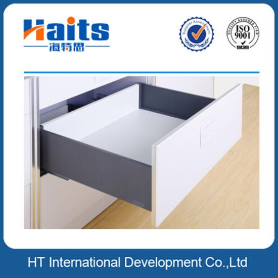 kitchen drawer slides track lighting for kitchens china elegant metal box system with soft close concealed