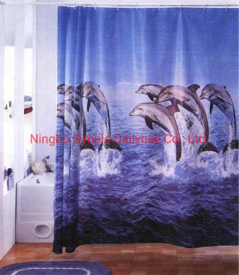 china peva pvc polyester bath curtain