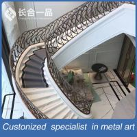 China Modern New Style Wroutht Iron Stair Railing ...