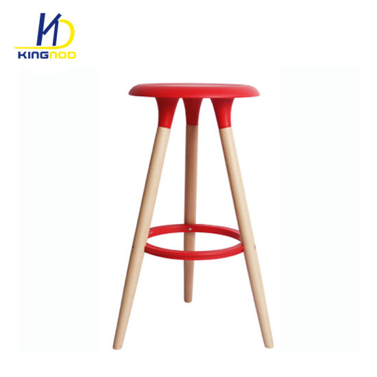 high chair wooden legs round comfy china abs plastic seat bar stool pictures photos