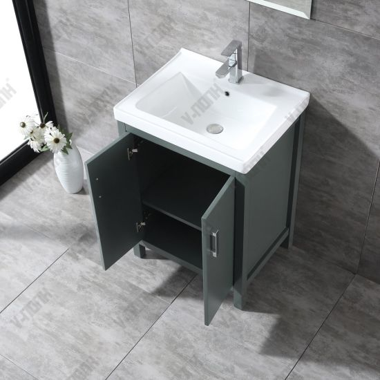Modern Free Standing Dark Green 24inch Bathroom Vanity China Modern Free Standing Made In China Com