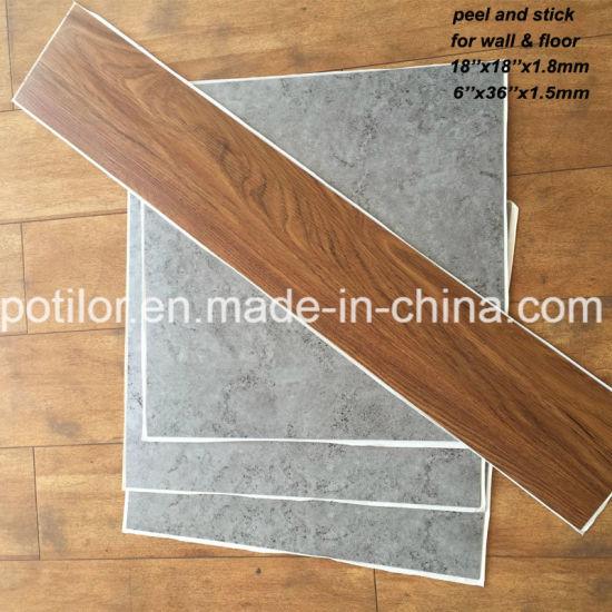 china pvc self adhesive flooring tiles