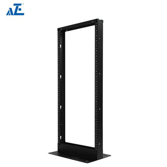 aluminum alloy open rack network cabinet 19 inch open server racks with 2 post