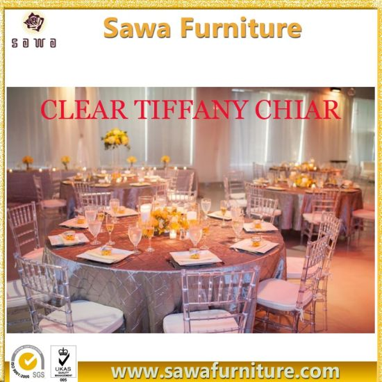 tiffany wedding chairs hanging bubble chair with stand china resin plastic crystal clear chiavari for events