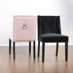 Ring Back Dining Chair Slipcovers Ikea China Nailhead Upholstered Velvet Chairs