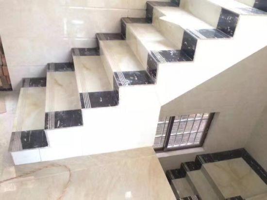 600X300Mm Super Black Color Porcelain Floor Stair Tile China | Floor Tiles Design For Stairs | Hallway Floor Tile | Stair Landing | House | Stair Riser | Wall