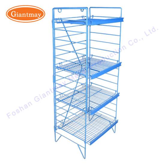 retail supermarket 4 tiers folding