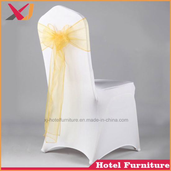 used spandex chair covers over sized china wedding polyester banquet dining stretch cover