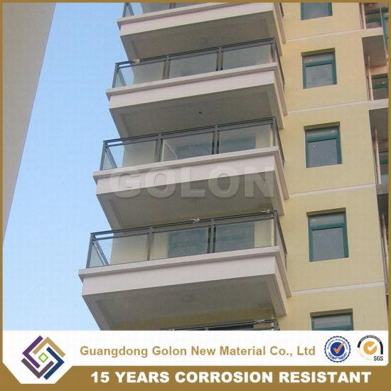 China New Aluminium Handrail Glass Balustrade Balcony