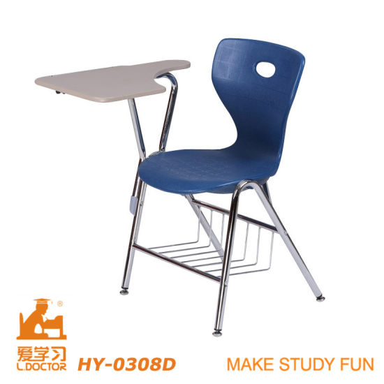 chair connected to desk fisher price space saver high straps china cheap school with