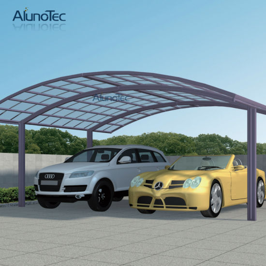 China Outdoor Polycarbonate Aluminum Double Carports Canopy Cover