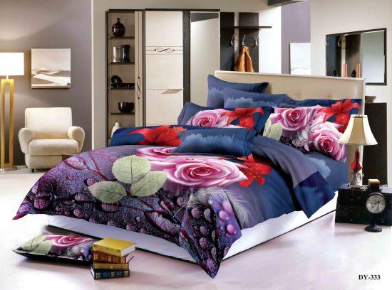 3d unicorn light purple bedding set