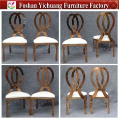 Modern Steel Chair Design Wide Rocking China New Rose Gold Stainless Wedding And Event Yc As56 Pictures