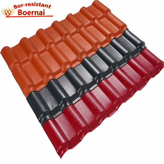 bor roofing china excellent weatherability pvc roof tiles for villa home