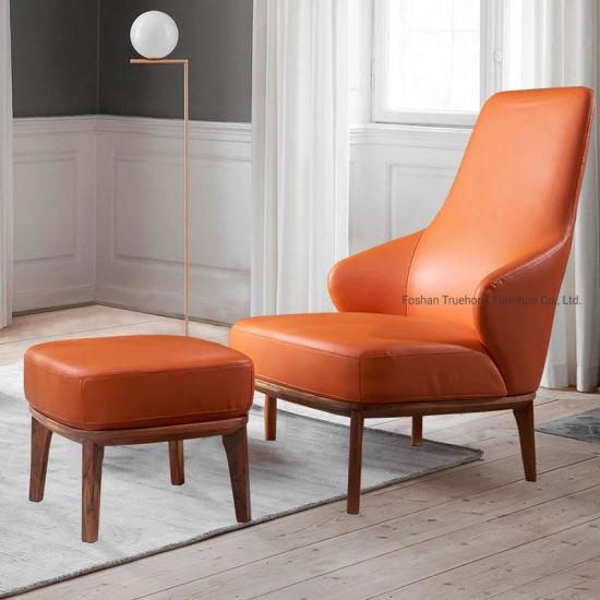 modern design genuine leather stool