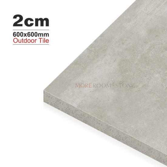 china 24x24 anti slip light grey 2cm