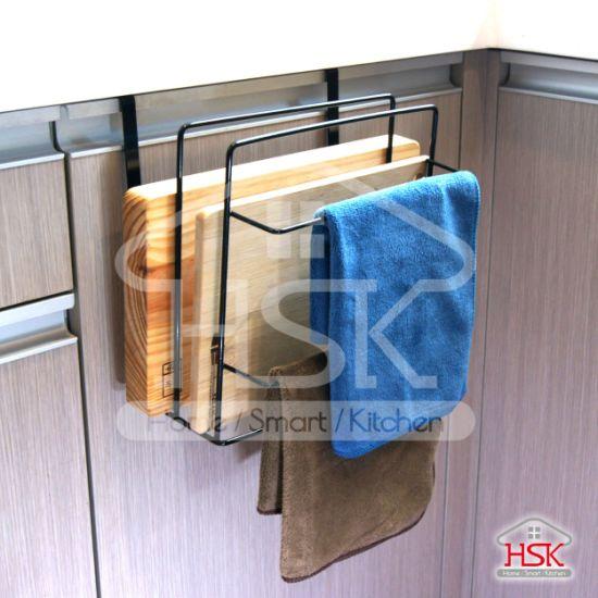 kitchen cabinet door organizer rack