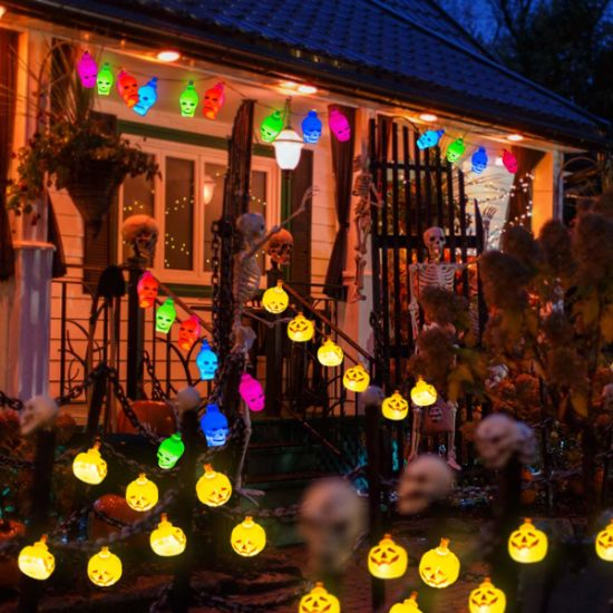China Halloween Lights Decoration Pumpkin White Spooky Skull Halloween String Lights Hanging Lights Battery Operated For Indoor Outdoor Halloween Decoration Party China Halloween Light Halloween Decoration