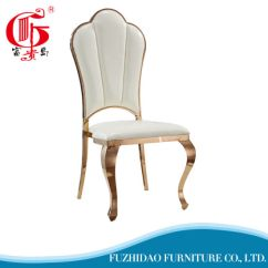Steel Chair Gold Baby Chairs For Eating China Classical Rose Stainless Dining Metal