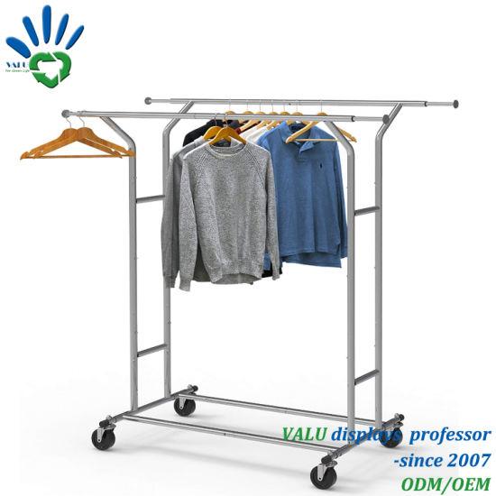 simple trending double rail clothes