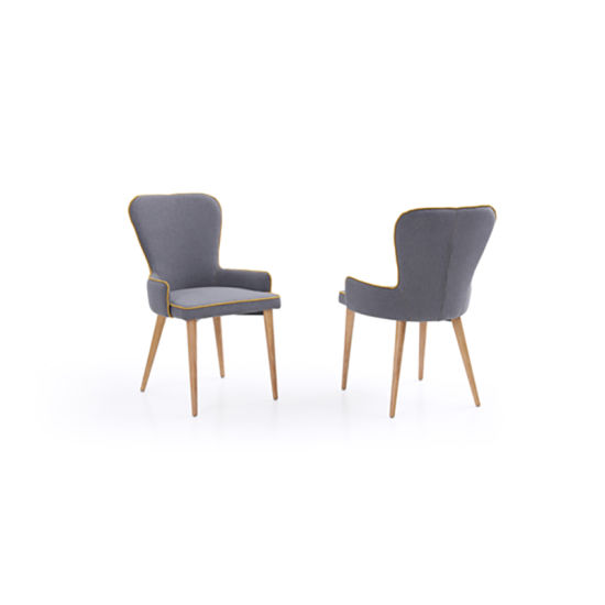 upholstered arm dining chair workout ball office china customized modern wooden