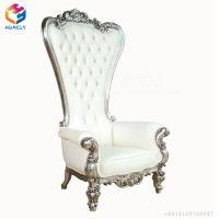 China Royal Queen White Gold Silver Wedding Sofa King ...