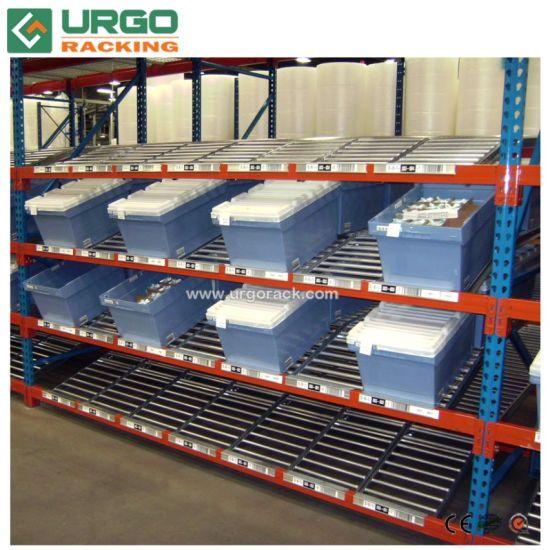 carton slide rail roller flow rack for