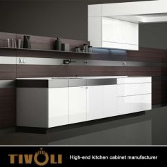 Small Kitchen Tv Wall Tiles China Modern Design High Gloss Mdf Cabinets Used In 0573