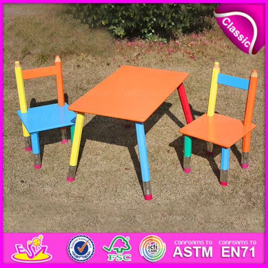 portable study chair shower lowes china 2015 mdf kids desk in pencil design folding table set