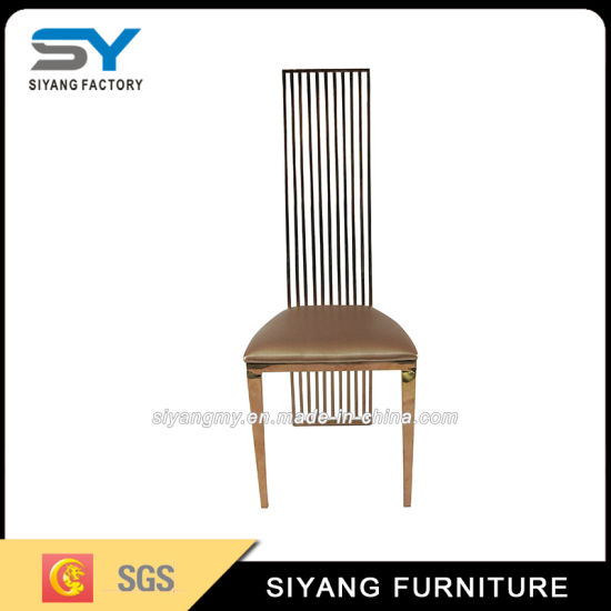 steel chair gold very unusual chairs china hotel furniture restaurant dining