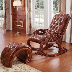 Sofa Rocking Chair White Slipcovered Houzz China Wood With Ottoman For Outdoor Furniture 306
