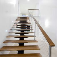 China Modern Design Steel Beam Open Riser Staircase with ...