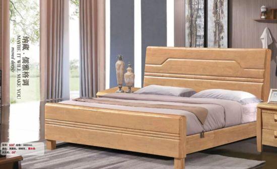 furniture 1 8m oak wood bed for bedroom