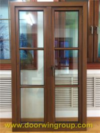 China Solid Teak Wood Aluminum Window, Wooden Window Frame ...