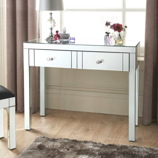 China European Style Mirror Dressing Table Make Up Table Furniture For Bedroom China Mirrored Furniture Mirrored Dressing Table