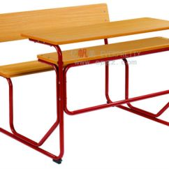 Chair Connected To Desk Folding Van China Popular School Student Double Sf 07d2