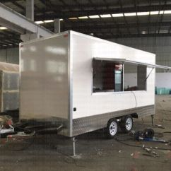 Kitchen Trailer Custom Sinks China Outdoor Fast Food Fiber Glass Mobile With Small Vending Kiosk