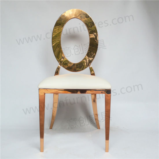 steel chair gold hanging walmart china round back with hollow wedding stainless ycx ss28 pictures photos
