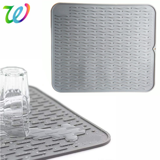 kitchen dish drying mat new cabinets cost china eco friendly big silicone pictures photos
